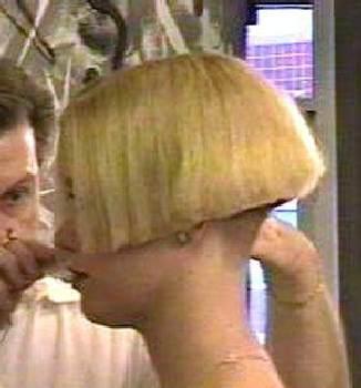 Bob hinterkopf rasiert kurzer Frisuren Gestufter